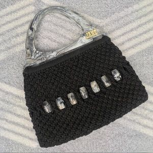 JANE Acrylic Marble Crocheted Woven Handbag